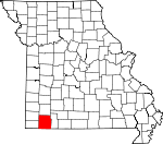 Map of Missouri showing Barry County - Click on map for a greater detail.