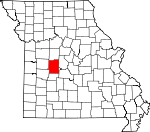Map of Missouri showing Benton County - Click on map for a greater detail.