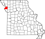 Map of Missouri showing Buchanan County - Click on map for a greater detail.