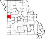 Map of Missouri showing Cass County - Click on map for a greater detail.