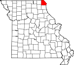 Map of Missouri showing Clark County - Click on map for a greater detail.