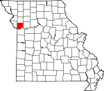 Map of Missouri showing Clay County - Click on map for a greater detail.