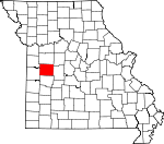 Map of Missouri showing Henry County - Click on map for a greater detail.