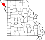 Map of Missouri showing Holt County - Click on map for a greater detail.