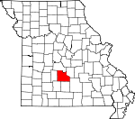 Map of Missouri showing Laclede County - Click on map for a greater detail.