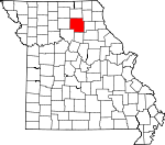 Map of Missouri showing Macon County - Click on map for a greater detail.