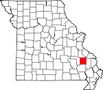 Map of Missouri showing Madison County - Click on map for a greater detail.
