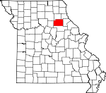 Map of Missouri showing Monroe County - Click on map for a greater detail.