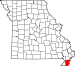 Map of Missouri showing Pemiscot County - Click on map for a greater detail.