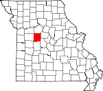 Map of Missouri showing Pettis County - Click on map for a greater detail.