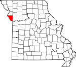 Map of Missouri showing Platte County - Click on map for a greater detail.