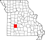 Map of Missouri showing Polk County - Click on map for a greater detail.