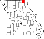 Map of Missouri showing Scotland County - Click on map for a greater detail.