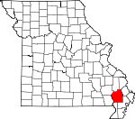 Map of Missouri showing Stoddard County - Click on map for a greater detail.