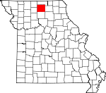 Map of Missouri showing Sullivan County - Click on map for a greater detail.