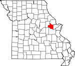 Map of Missouri showing Warren County - Click on map for a greater detail.