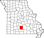 Map of Missouri showing Wright County - Click on map for a greater detail.