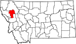 Map of Montana showing Lake County - Click on map for a greater detail.