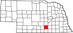 Map of Nebraska showing Adams County - Click on map for a greater detail.
