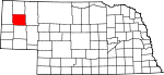 Map of Nebraska showing Box Butte County - Click on map for a greater detail.