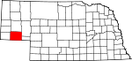 Map of Nebraska showing Cheyenne County - Click on map for a greater detail.