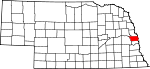 Map of Nebraska showing Douglas County - Click on map for a greater detail.