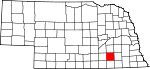 Map of Nebraska showing Fillmore County - Click on map for a greater detail.