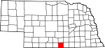 Map of Nebraska showing Franklin County - Click on map for a greater detail.