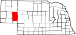 Map of Nebraska showing Garden County - Click on map for a greater detail.