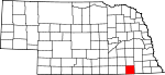 Map of Nebraska showing Jefferson County - Click on map for a greater detail.