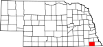 Map of Nebraska showing Pawnee County - Click on map for a greater detail.