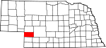 Map of Nebraska showing Perkins County - Click on map for a greater detail.