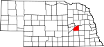 Map of Nebraska showing Polk County - Click on map for a greater detail.
