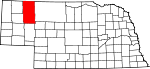 Map of Nebraska showing Sheridan County - Click on map for a greater detail.
