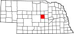 Map of Nebraska showing Valley County - Click on map for a greater detail.