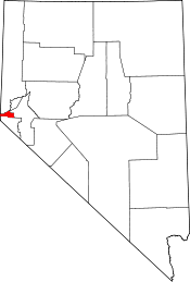Map of Nevada showing City of Carson City - Click on map for a greater detail.