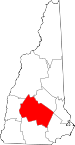 Map of New Hampshire showing Merrimack County - Click on map for a greater detail.
