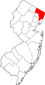 Map of New Jersey showing Bergen County - Click on map for a greater detail.