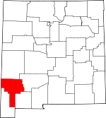 Map of New Mexico showing Grant County - Click on map for a greater detail.