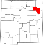 Map of New Mexico showing Harding County - Click on map for a greater detail.