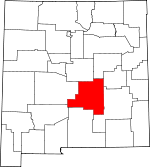 Map of New Mexico showing Lincoln County - Click on map for a greater detail.