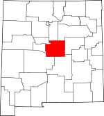 Map of New Mexico showing Torrance County - Click on map for a greater detail.