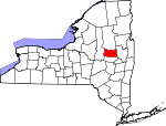 Map of New York showing Fulton County - Click on map for a greater detail.