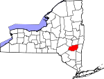 Map of New York showing Greene County - Click on map for a greater detail.