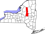 Map of New York showing Herkimer County - Click on map for a greater detail.