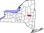Map of New York showing Montgomery County - Click on map for a greater detail.