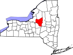 Map of New York showing Oneida County - Click on map for a greater detail.