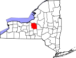 Map of New York showing Onondaga County - Click on map for a greater detail.