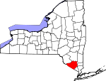 Map of New York showing Orange County - Click on map for a greater detail.