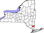 Map of New York showing Putnam County - Click on map for a greater detail.